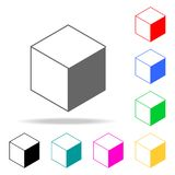 Cube icon. Elements in multi colored icons for mobile concept and web apps. Icons for website design and development, app developm. Ent on white background Stock Photography
