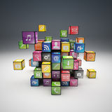 Cube icon set vector illustration