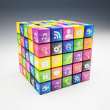 Cube icon set Stock Photography
