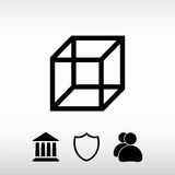 Cube icon, vector illustration. Flat design style Stock Images