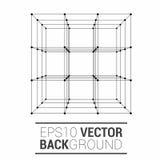 Cube icon vector Stock Image