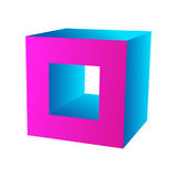 Cube icon for your business promotional artwork Royalty Free Stock Photography