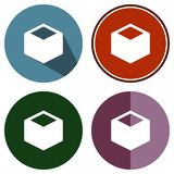 Cube. Icons flat cube for Web, Mobile and business Royalty Free Stock Image