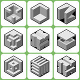 Cube icons Set 2 Royalty Free Stock Images