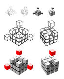 Cube illustration Stock Photos