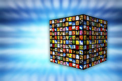 Cube of images Royalty Free Stock Image