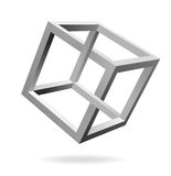 Cube. Impossible figure in the shape of a cube Royalty Free Stock Photography