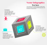 Cube infographics. Vector illustration of abstract business infograghics in form of 3d cube stock illustration