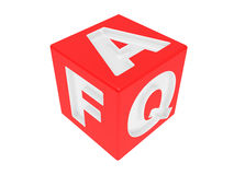 Cube with an inscription FAQ Royalty Free Stock Images