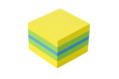 Cube isolated on a white background Royalty Free Stock Images