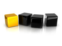 Cube jaune Photo stock