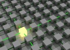Cube léger illustration de vecteur
