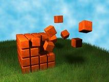 cube l'explosion Photographie stock libre de droits
