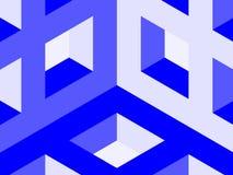 Cube lattice corner Stock Image