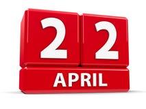 Cube le 22 avril Image libre de droits