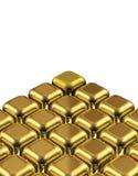 Cube le différent en or illustration de vecteur