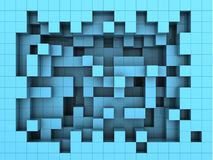 Cube le fond Photo stock