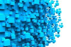 Cube le fond bleu Photographie stock
