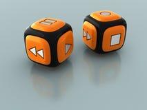 cube le joueur Images libres de droits