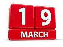 Cube le 19 mars illustration libre de droits
