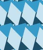 Cube le modèle 3d sans couture Fond bleu monochrome Photographie stock