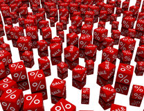 cube le rouge Images libres de droits