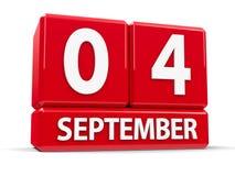 Cube le 4 septembre illustration libre de droits