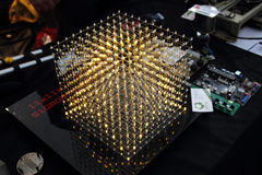 Cube of leds Stock Photography