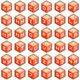Cube Letters and Numbers. Each cube face is formed out of rhombuses which have been left as separate shapes for customization royalty free illustration