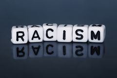 Cube Letters show racism Stock Photos
