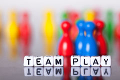 Cube Letters show the word team play Royalty Free Stock Photography