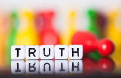 Cube letters show the word truth Royalty Free Stock Image