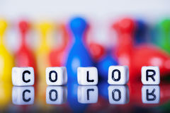 Cube Letters showing color Royalty Free Stock Photos