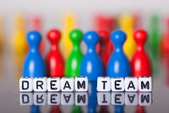 Cube Letters showing dream team Stock Images