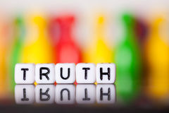 Cube Letters showing truth Royalty Free Stock Photos