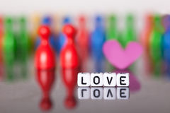 Cube Letters showing the word love Royalty Free Stock Image