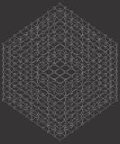 Cube With Line Edges And Octahedron Joints Vector Royalty Free Stock Images