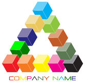 Cube logo. Cube color logo with white background Stock Photography