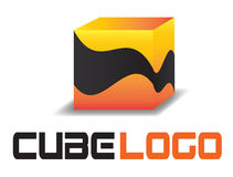 3D cube logo Stock Photo