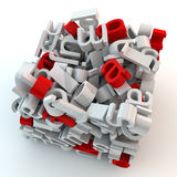 Cube made of letters Royalty Free Stock Photos