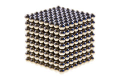 Cube made of  magnetic beads Royalty Free Stock Image