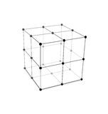 Cube Made is Mesh Polygonal Element. Illustration Cube Made is Mesh Polygonal Element Connected Lines and Dots - Vector royalty free illustration