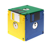 Cube Made Of Diskettes Royalty Free Stock Images