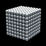 Cube magnétique en billes en métal Photos stock