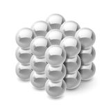 Cube from magnetic balls Stock Image