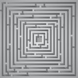 Cube maze Royalty Free Stock Image
