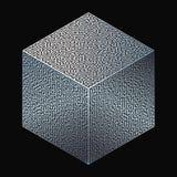Cube Maze. Vector cube stylized as a maze. Labyrinth decoration stock illustration