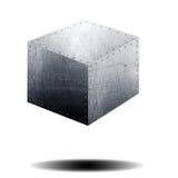 Cube metal Royalty Free Stock Photos