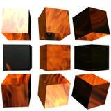 cube modelé par 3D Images stock
