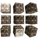 cube modelé par 3D Image libre de droits